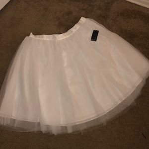 Picture Perfect Creamy Tulle A-line Skirt